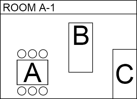 Image, map. Room A(A1). Electronic parts