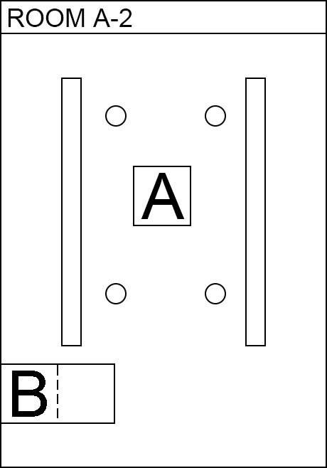 Image, map. Room A(A2). Electronic parts
