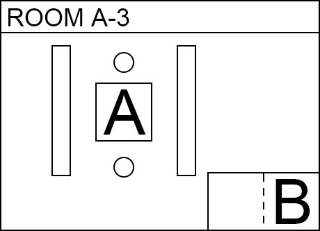 Image, map. Room A(A3). Electronic parts