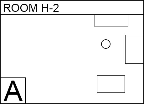 Image, map. Room H(H2). Food