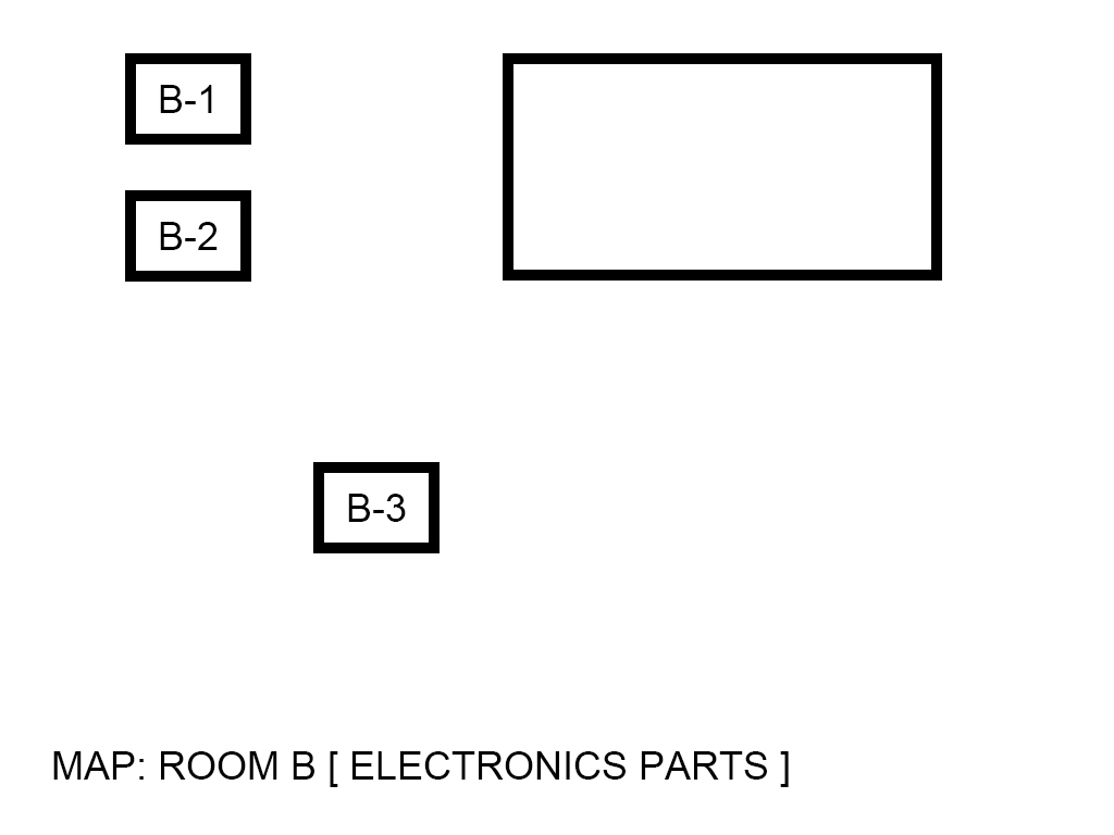 Image, map. Room A(B1~B3). Electronic parts